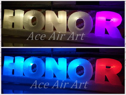 Long air baLLoons online shopping - color changable rgb lighted Long custom Inflatable letter for party decorations offered by Ace Air Art