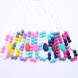 Baby Teething Silicone Canada - 100% BPA Free Food Grade DIY Silicone Baby Chew Beads Teething Necklace Wholesale Nursing Jewelry Teether for Mom Mommy to Wear
