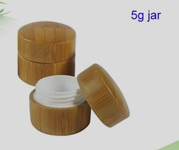 China 5g 5ml bamboo jar cosmetic cream wax container small mini stash storage Refillable empty cosmetic Makeup container jar suppliers