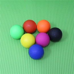 Film Fitness online shopping - Fitness Balls Silicone Solid Reinforcement Film Ball Health Massage Sphere Muscle Relaxing Hockey Body Building Hot Sell lg J