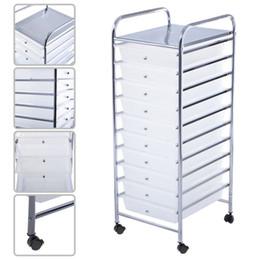 Clear sCrapbook online shopping - 10 Drawer Rolling Storage Cart Scrapbook Paper Office School Organizer Clear