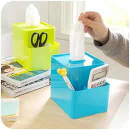 $enCountryForm.capitalKeyWord Canada - Wholesale- Creative multifunctional desktop pen storage tissue boxes Colorful remote pumping carton box K2891