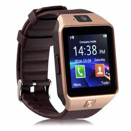 Original DZ09 Reloj inteligente Bluetooth Dispositivos portátiles Smartwatch Para iPhone Teléfono con Android Reloj con cámara SIM / TF Slot en venta