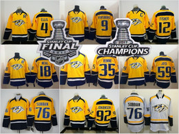 Stitched NHL Jersey 2017 Stanley Cup Final Patch Champion Hockey Jersey  Nashville Predators ... 75e88a244