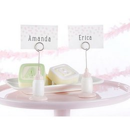 table place cards holders NZ - Baby Feeding Bottle Place Card Holder Resin Table Number Card Holders Wedding Favor Table Decoration DHL Free Shipping