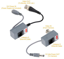 Wholesale CCTV Camera Accessories Audio Video Balun Transceiver BNC UTP RJ45 Video Balun with Audio and Power over CAT5 5E 6 Cable