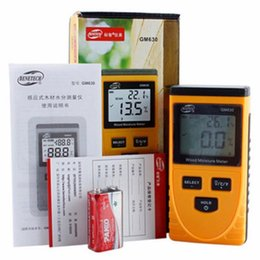 lcd tester Australia - Freeshipping 100% original Digital Wood Moisture Meter Temperature Humidity Tester Induction Moisture Tester LCD Display Hygrometer GM630