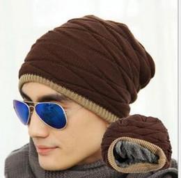 $enCountryForm.capitalKeyWord Australia - Fashion Beanies Knit Beani Winter Caps Sports Wool Hip Hop Hats for Men And Women Solid Color HipHop Cap Gorro Velvet Christmas Gift