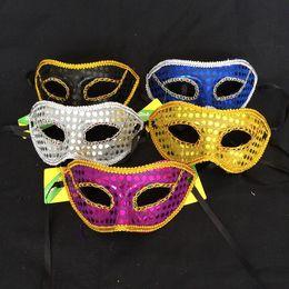 Mens Ball Masks NZ - Mens Womens Bright Cloth Party Masks With Lace nclosureEdge Masquerade ball Venetian Sparkle Mask Mardi Gras Costume