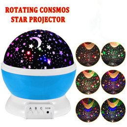 $enCountryForm.capitalKeyWord NZ - Wholesale Romantic Rotating Spin Night Light Projector Children Kids Baby Sleep Lighting Sky Star Master USB Lamp Led Projection DHL free