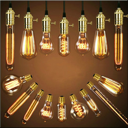 China Antique Retro Vintage 40W 220V Edison Bulb E27 Incandescent Bulbs Squirrel-cage Filament Light Bulb Edison Lamps supplier vintage antique edison bulbs suppliers