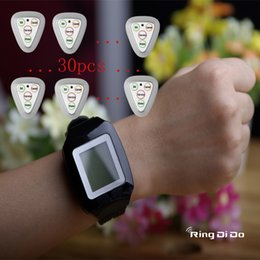 $enCountryForm.capitalKeyWord Australia - 1watch+30pcs four keys Triangle buttons Wireless calling pager,wrist watch be able vibrate and didi voice to note waiter once bell button