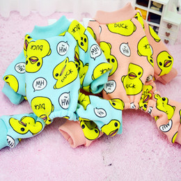 $enCountryForm.capitalKeyWord Canada - Cute Duck Dog Pajamas Cotton Pet Cat Clothes Shirt Cozy Soft Jumpsuit Fleece Clothing for Dogs 05