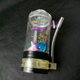 Lighted Bong NZ - Acrylic with Alcohol Lights Water Bottle Glass Bongs Accessories , Glass Smoking Pipes colorful mini multi-colors Hand Pipes Best Spoon glas