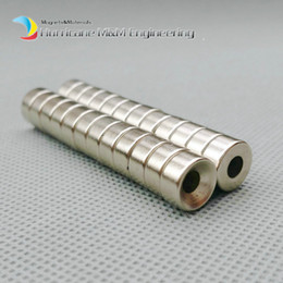 Neodymium Magnets Mm Canada - 60pcs Countersunk Hole Magnet Diameter 10x5 (+ -0.1)mm Thick M4 Screw Countersunk Hole Neodymium Rare Earth Permanent Magnet