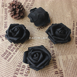 wholesale cheap colourfast high quality black foam rose flower artificial accessories pe flower home decoration fake flowers 50pcs diy