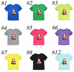 wholesale little girl tees shirts Australia - xmas ins christmas new santa snowman little helper children t shirt o-neck summer short cotton girls t shirt for children tops tees 2-14year
