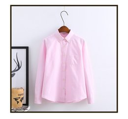 Chemisier Roses Roses Pas Cher-Chemises roses Casual Women Blouse Promotion Regular Slim Fit Pure Long Sleeve For Spring Autumn Ladies Tops Mode