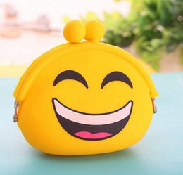 Silicone Wallets Canada - Fashion Lovely Design Wallets Women Silicone Round Coin Purse Wallet Portable Lady Card Key Phone Bag Case DHL