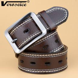 $enCountryForm.capitalKeyWord Canada - Wholesale- [Veroseice] New Arrival Cowhide Genuine Leather Belts for Men Brand Strap Male Pin Buckle Fancy Vintage Jeans Cintos Men Belt
