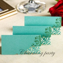 Damask Party Decorations NZ - 50pcs New Laser Cut Damask Name Place Cards Table Cards Wedding Sweets Favours Party Decoration Supplies