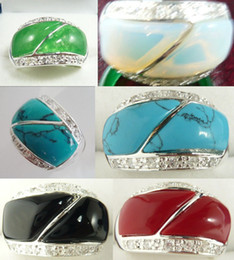 $enCountryForm.capitalKeyWord Canada - Wholesale cheap charming green red jade black agate turquoise white opal wedding party ring