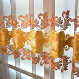 Embossing Velvet Living Room Bedroom Curtain Splice Embroidery Curtains Easy Mathcing Water Friendly Drapes Wholesale Gauze