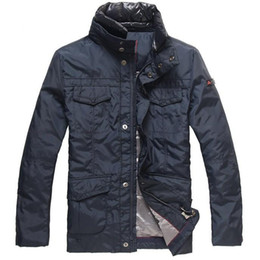 Wholesale dark brown jackets resale online – Italy peuterey men brief paragraph new men down jacket to keep warm coats
