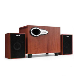 Home Theater Sound Canada - New Wired Wooden Mini Computer Speaker USB Stereo HIFI Loudspeaker Bluetooth TF Card Stereo Loudspeaker Home Theater Sound Syster