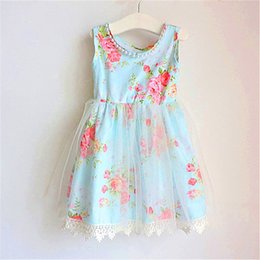 Vêtements De Fête Pour Enfants Pas Cher-2017 Baby Girls Lace tutu Robes Kids Girls Princess Pearl Dress Babies Party Dress enfant Vêtements d'été