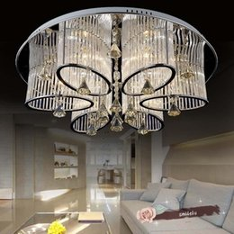 $enCountryForm.capitalKeyWord Canada - The new luxury living room crystal lamp ceiling lamp LED special shaped lamps round clouds simple modern bedroom