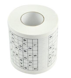 Chinese  Sudoku Bathroom Toilet Loo Paper Funny Game Kill Time Creative Multi Function Family Hotel Napkin Novelty Gift 4hk J R manufacturers