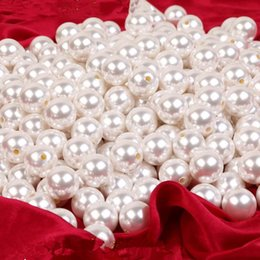 Pearl Material NZ - White half hole DIY handmade beaded jewelry accessories material ABS imitation pearls scattered beads Loose pearlD030