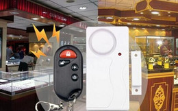 smoke detector remote alarm Australia - Fashion Hot Home Security Wireless Remote Control Vibration Motorcycle Bike Door Window Detector Burglar Alarm
