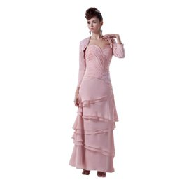 $enCountryForm.capitalKeyWord UK - New Arrival Long Sleeve Jacket Mother of the Bride Dress Floor Length Chiffon Appliques Design WD4-377