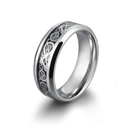 $enCountryForm.capitalKeyWord Canada - New Dragon 316L stainless steel Ring Mens Jewelry Wedding Band male ring for lovers Wedding Bands Romantic Love Valentine Day Gift 10 Sizes