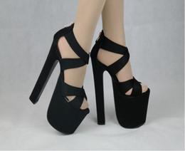 7ea8639ff5 2017 CALIENTE Nuevas Mujeres Atractivas Bombas 17 CM Ronda punta abierta  Ultra Thick sandalias de tacón alto Zapatos de Mujer Zapatos de Mujer  Simple ...