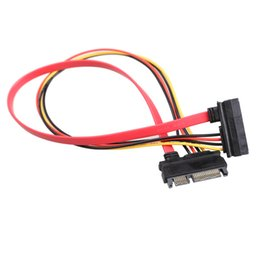 $enCountryForm.capitalKeyWord Canada - Wholesale- 30CM New 22 Pin Male to Female 7+15 pin SATA Data Power Combo Extension Cable