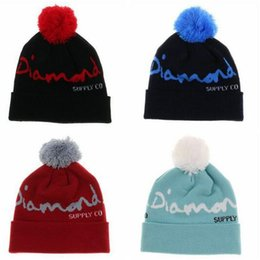 $enCountryForm.capitalKeyWord Australia - Diamond Beanies Brand Designer Hip Hop Hats Men Women Skull Caps Beanies for Women Men Boy or Hats Winter Hip Hop Cap