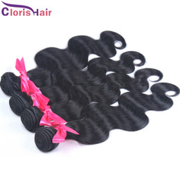 best wavy human hair extensions 2020 - Wholesale 4Bundles Body Wave Peruvian Hair Weft Cheap Natural Wavy Remi Human Hair Extensions Best 100% Peruvian Weave a