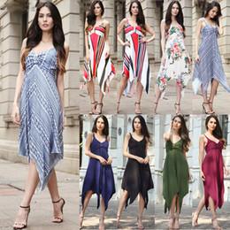 7d42306211a Hot Sale Summer Women Clothing Shirt Dresses Irregular V-neck Sleeveless  Empire Waist Dresses Top Plus Tunic Boho Floral Printing Dresses