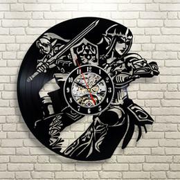 $enCountryForm.capitalKeyWord NZ - Legend of Zelda Link Time Video Game Decor Art Figure Vinyl Record Wall Clock,Wall clock,vinyl,furniture,decoration,