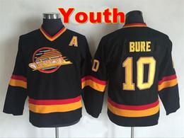 ... Youth Throwback Vancouver Canucks Jersey 10 Pavel Bure Jersey Shirt  Vintage CCM Home Black Kids Pavel ... Manufacturer NHL Jerseys - Authentic  ... 4648b5439