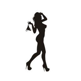 $enCountryForm.capitalKeyWord Canada - Automobile Motorcycle Funny Beautiful Sexy Woman In Bikini Decorative Wall Stickers Cartoon Car Sticker Black Silver wholesale