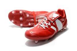 Cheap Pvc Football Canada - Original Predator Mania Champagne FG Mens Football Boots 2017 Champagne FG Soccer Shoes Best Quality Cheap Soccer Cleats Black Gold Red