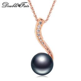 Shop simulated diamond pendant necklace uk simulated diamond nobleness new black simulated pearl pendants necklaces fashion cz diamond jewelry for women wedding engagement wholesale dfn435 aloadofball Gallery