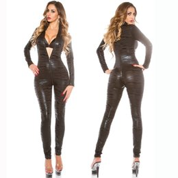 d619e50c41 Leather Jumpsuit Catwoman UK - Catwoman Sexy PVC Spandex Superhero Tiger  pattern Racing car Clubwear Party