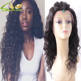 Indian Remy Glueless Full Lace Wigs NZ - Top 8A Thick Hair Natural Wave Density 180% Full Lace Wigs Raw Indian Remy Human Hair Full Density Glueless Lace Front Wigs