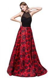 Real Sexy Pictures Canada - Real Picture 2017 Print Floral Long Evening Dresses Beading Backless Sheer Sexy Prom Party Dress