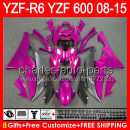 Pink yamaha r6 online shopping - 8gifts For gloss pink YAMAHA YZF R6 YZF600 YZF R6 NO77 YZFR6 pink black Fairing